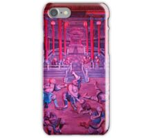 Artwork of Shaolin monks practicing in front of the Temple art photo print iPhone Case/Skin