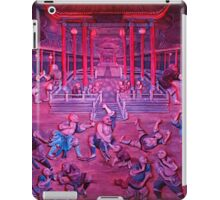 Artwork of Shaolin monks practicing in front of the Temple art photo print iPad Case/Skin