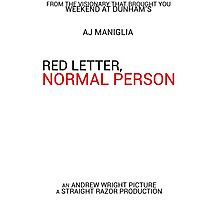 Red Letter, Normal Person Poster Photographic Print