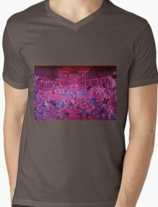 Artwork of Shaolin monks practicing in front of the Temple art photo print Mens V-Neck T-Shirt