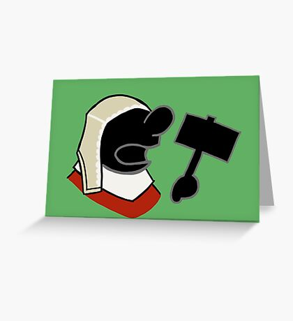 Mr Game and Watch Greeting Card