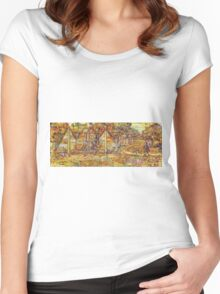 Walking the dog IV Women's Fitted Scoop T-Shirt