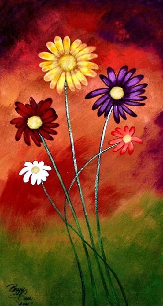 Crazie Daizies by Peggy Garr