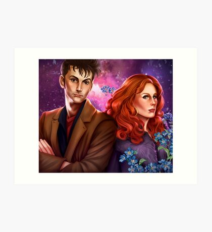 Donna and the Doctor Art Print