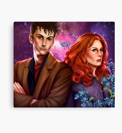 Donna and the Doctor Canvas Print