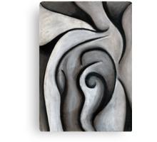 Charcoal Reaching Canvas Print