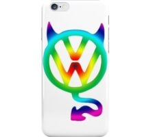 VW devil tail logo tie dye iPhone Case/Skin