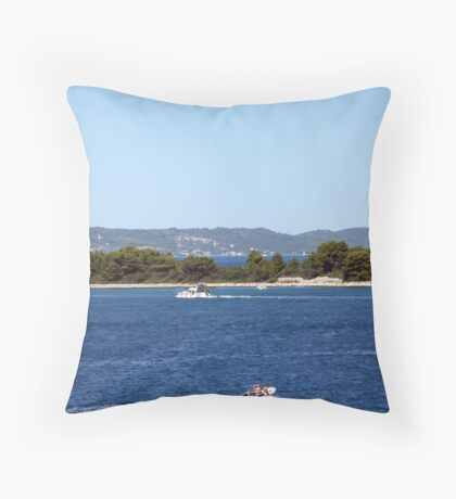 Blue Adriatic Throw Pillow