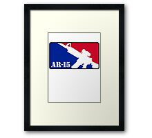 AR15 Red White and Blue Framed Print