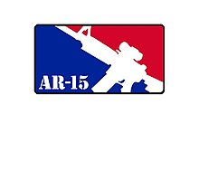 AR15 Red White and Blue Photographic Print