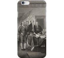Signing the Declaration of Independence iPhone Case/Skin