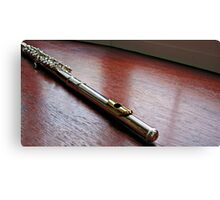 Silver and Gold - Flute Headjoint  Canvas Print