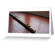 Silver and Gold - Flute Headjoint  Greeting Card