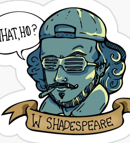 William Shadespeare Sticker