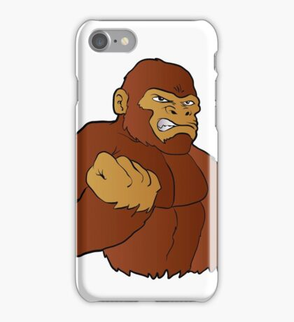 cartoon gorilla  iPhone Case/Skin