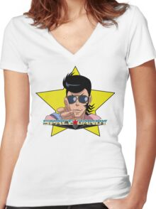 """""""BANG"""" Space Dandy Women's Fitted V-Neck T-Shirt"""