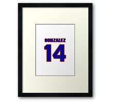 National baseball player Alberto Gonzalez jersey 14 Framed Print