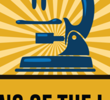 Jeffersonian's King of the Lab! Sticker