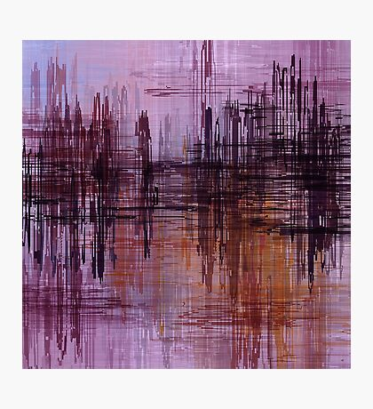 Purple / Violet Painting in Minimalist and Abstract Style Photographic Print