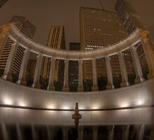 Wrigley Square and Millennium Monument (Peristyle) by Chuck Doss