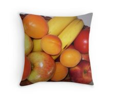 Fresh Fruit - on my bench Throw Pillow
