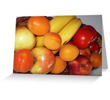 Fresh Fruit - on my bench Greeting Card