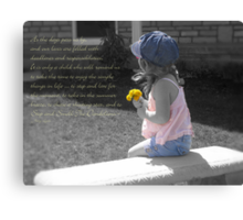 Stop And Smell The Dandelions Canvas Print