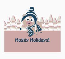 Hoggy Holidays! Winter Pig One Piece - Short Sleeve