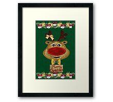 A Reindeer card Framed Print