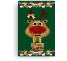 A Reindeer card Canvas Print