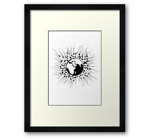 Overpopulation - Save the Planet Framed Print