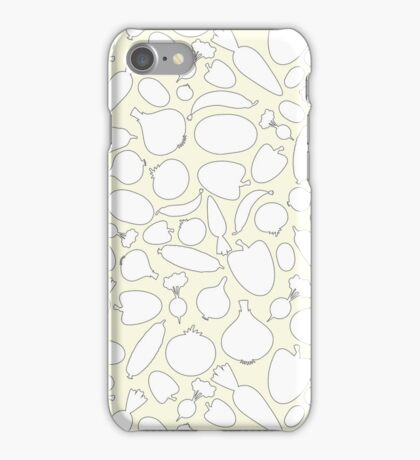 Seamless Vegetables Outlined iPhone Case/Skin