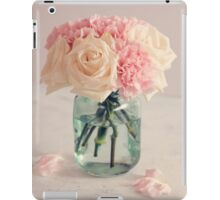 White Roses and Pink Carnation Bouquet iPad Case/Skin
