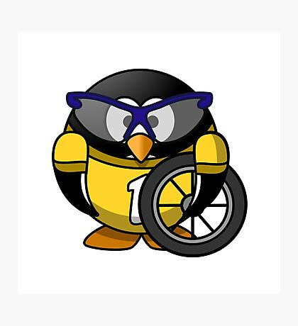 The Penguin Racer Photographic Print