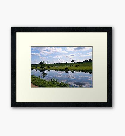Canal walk Framed Print