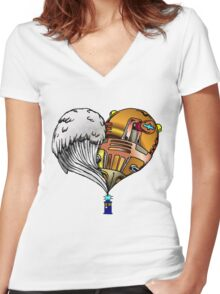 Love and Hate Tardis Women's Fitted V-Neck T-Shirt
