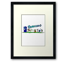 Doctor Who running from enemies Framed Print