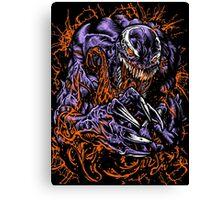 Black Spidey Canvas Print