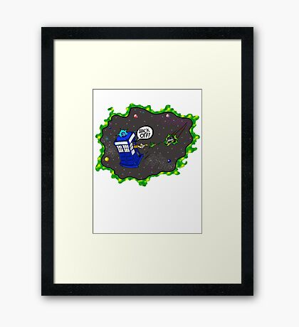 Tardis VS Delorean Framed Print