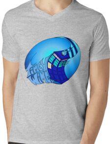 Timey Wimey Tardis Mens V-Neck T-Shirt