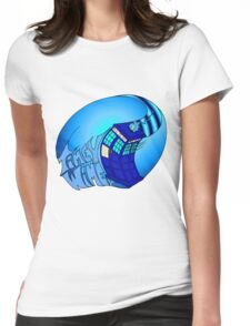 Timey Wimey Tardis Womens Fitted T-Shirt