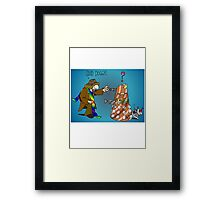 Good Boy, Bad Dalek Framed Print