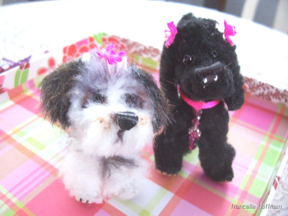 miniature pups by fran huffman by francelle  huffman