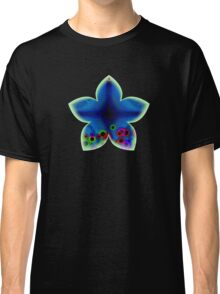 Blue Abstract Flower Classic T-Shirt