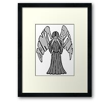 Don't Blink Weeping Angel Framed Print