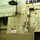 Maimed Melbourne - Crumbling, flaking Building Wall  by CDCcreative