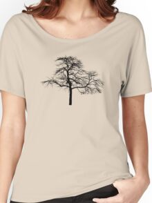 tree black version Women's Relaxed Fit T-Shirt