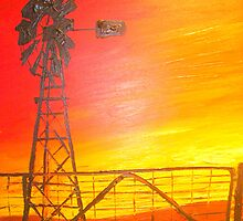 Outback Sunset by gillsart