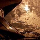 Sydney Opera House with bridge in sepia by Sheila  Smart