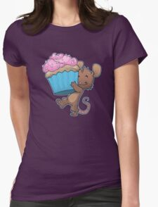 Cupcake Mouse Womens Fitted T-Shirt